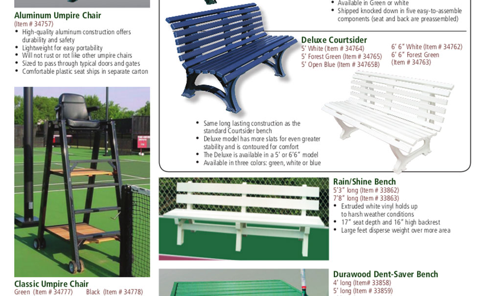 Best Benches Umpire Chairs For Tennis Courts Dallas Master Systems
