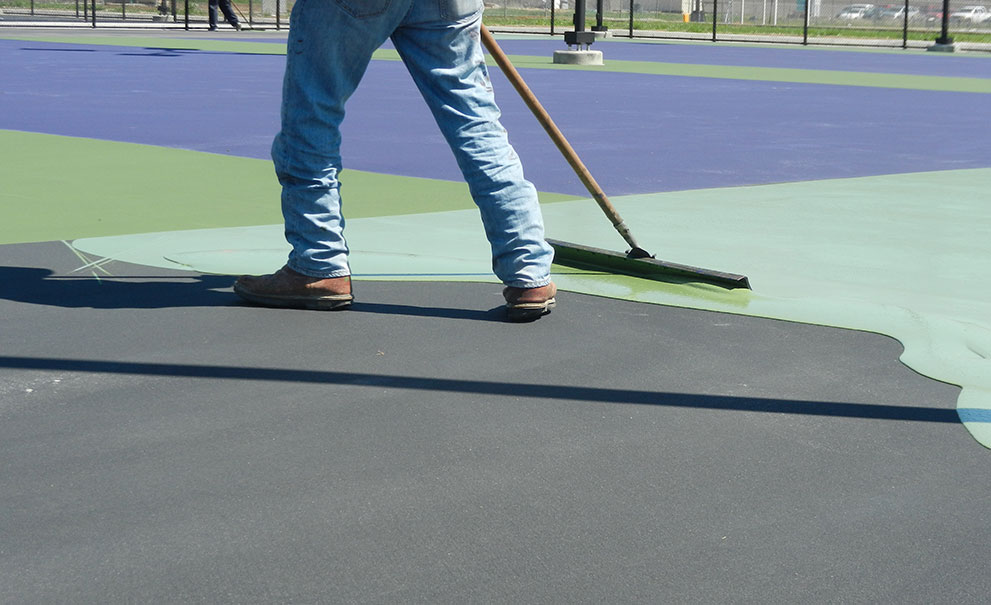 Master Systems Courts Resurfacing Sample