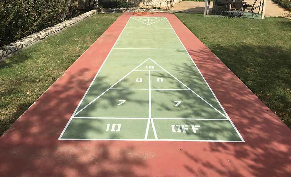 Master Systems Courts Painted Game Court Sample