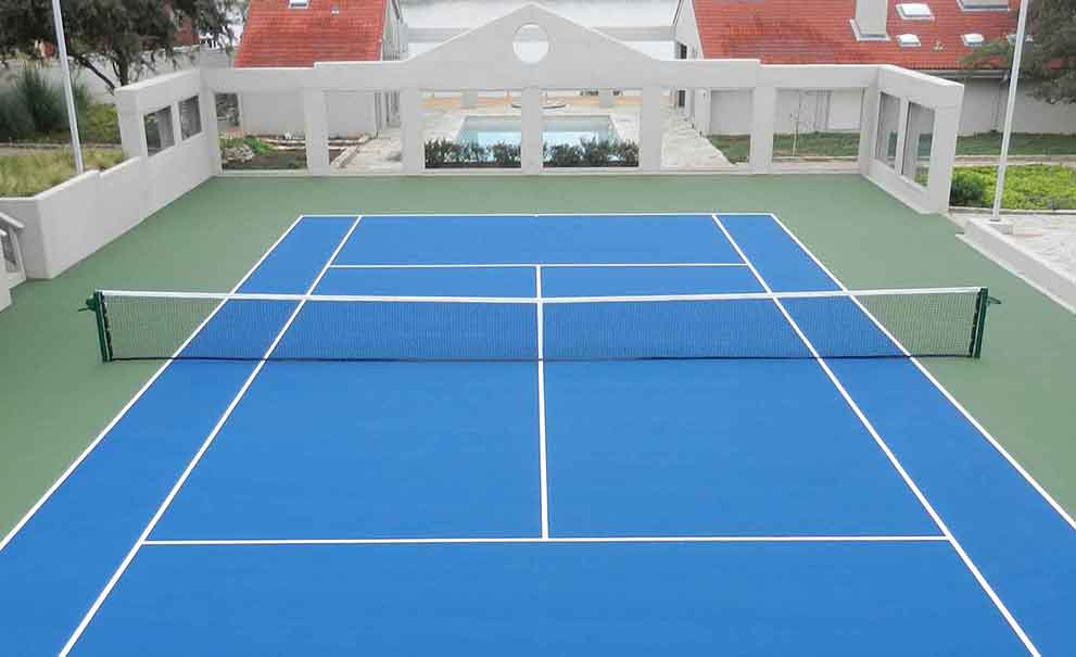 Master Systems Courts Tennis Court Sample